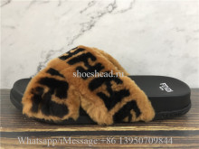 Fendi Roma Fur Slides