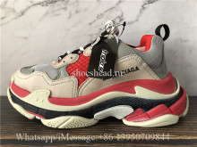 Balenciaga Triple S Trainer Red Cream