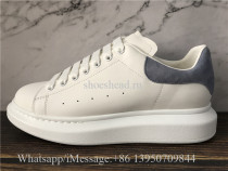 Super Quality Alexander McQueen Oversized Sneaker White Light Blue Suede