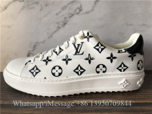 Super Quality Louis Vuitton Time Out Sneaker Black White