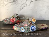 Gucci Princetown GG Supreme Flora Horsebit Mules Loafer