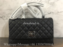 Original Chanel Coco Handle Flap Bag Caviar Quilted Leather