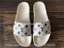 Louis Vuitton White Slide