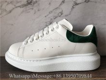 Super Quality Alexander McQueen Oversized Sneaker White Green Suede