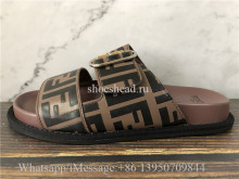 Fendi Roma Brown Slide