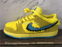 Correct Version Grateful Dead x Nike SB Dunk Low Bear Yellow