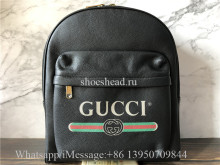 Original Quality Gucci Logo Leather Backpack
