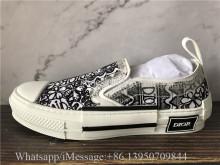 Dior B23 Low Top Oblique White Black