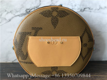 Original Louis Vuitton Giant Monogram Boite Chapeau Souple Round Shoulder Bag