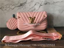 Original Louis Vuitton Multi Pochette Accessoires Bag Pink