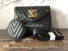 Original Louis Vuitton Multi Pochette Accessoires Bag Black