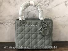 Original Quality Dior Lady Handbag Green Lambskin