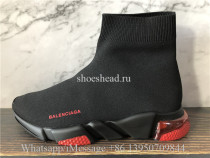 Balenciaga Speed Trainer Black Red Air Bubble Sole
