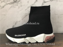 Balenciaga Speed Trainer Black Pink Air Bubble Sole