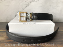 YSL Saint Laurent Black Leather Belt