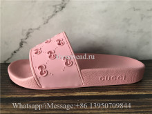 Gucci Rubber Cutout Slide Pink