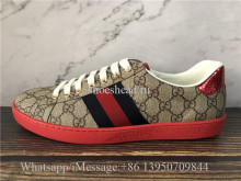 Super Quality Gucci Ace Embroidered Sneaker Coffee G Logo