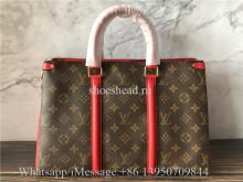 Original Louis Vuitton Soufflot BB Monogram Canvas Leather Bag Cerise M44818