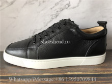 Christian Louboutin Flat Low Top Sneaker Black Leather