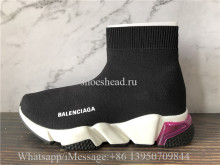 Balenciaga Speed Trainer Air Bubble Black Rose Pink