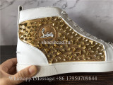 Christian Louboutin Spike Flat High Top Sneaker Diamond