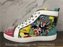 Christian Louboutin Spike Flat High Top Shoes
