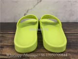 Balenciaga Lemon Green Slide With Balenciag Black Logo