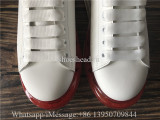Super Quality Alexander McQueen Oversized Sneaker White Red Suede Air Bubble