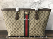 Original Gucci Ophidia GG Medium Tote Beige Bag