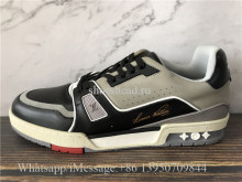 Super Quality Louis Vuitton LV Trainer Sneaker Low Black Grey