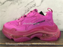 Super Quality Balenciaga Triple S Clear Sole Trainer Rose Pink
