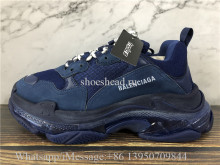 Super Quality Balenciaga Triple S Clear Sole Trainer Blue