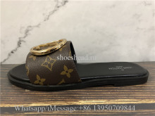 Louis Vuitton Monogram Lock It Flat Mule Slide