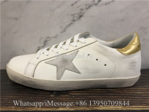 Golden Goose Deluxe Superstar Distressed Sneakers White Golden