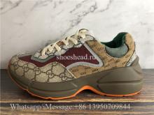 Super Quality Gucci GG Rhyton Vintage Brown Ebony Sneaker