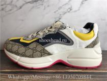Super Quality Gucci GG Rhyton Vintage Beige Ebony Sneaker