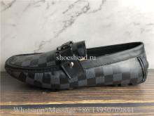 Louis Vuitton Damier Black Dress Shoes