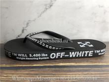 Off White Black Flip Flop Slide Sandals