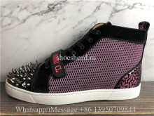 Christian Louboutin Spike Flat High Top Sneaker Purple