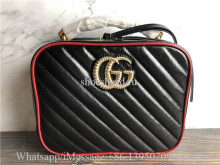 Original Gucci GG Marmont Small Shoulder Bag With Bamboo