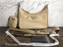 Orginal Quality Prada Nylon Re-Edition 2005 Shoulder Bag Beige