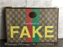 Original Gucci Fake Not Supreme Logo Organiser Pouch Bag
