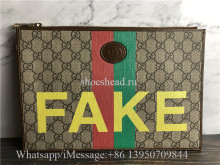 Original Gucci Fake Not Supreme Logo Organiser Pouch Bag