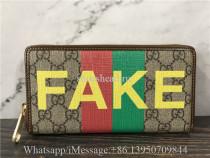 Original Gucci Men's Fakenot Print Zip-around Wallet