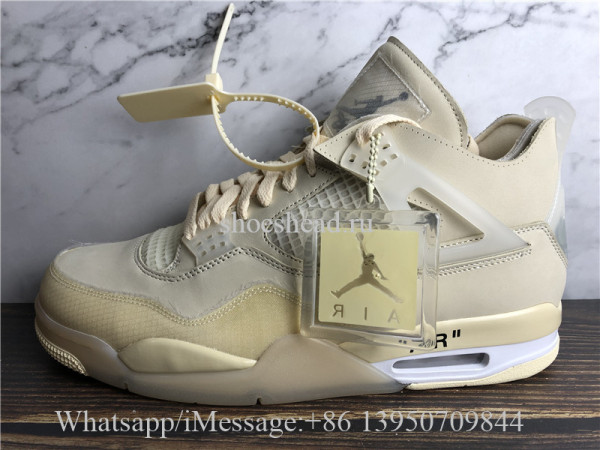Off White x Air Jordan 4 Retro Sail