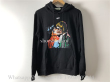 OFF-WHITE Kiss Graphic Print Hoodie Black Multicolor