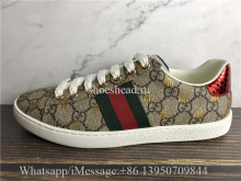 Gucci Ace GG Supreme Bees Leather Lace Up Sneakers