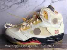 Super Quality Off White x Air Jordan 5 SP Cream Sail