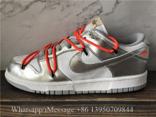 Off-White x Nike Dunk Low Silver