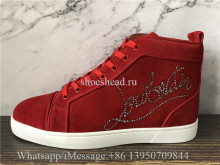 Christian Louboutin Flat High Shoes Red Suede